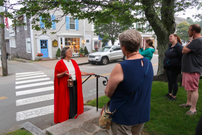 A Red Cloak Haunted History Tour in Boothbay Harbor. Mimi Steadman photo